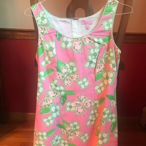 Lilly Pulitzer pink & green Nina dress Tootie 6